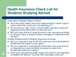 health insurance check list for students studying abroad10