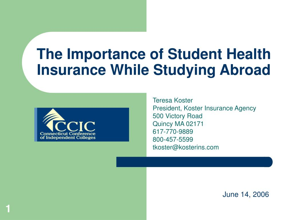 the importance of student health insurance while studying abroad l.