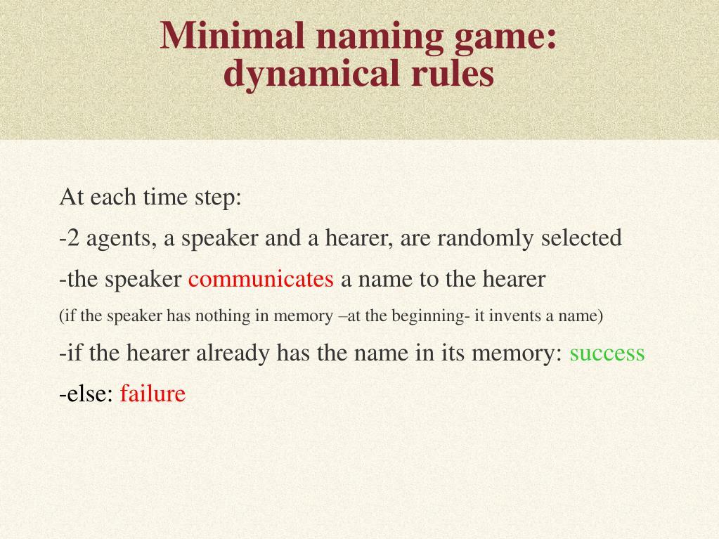 Minimal naming game: