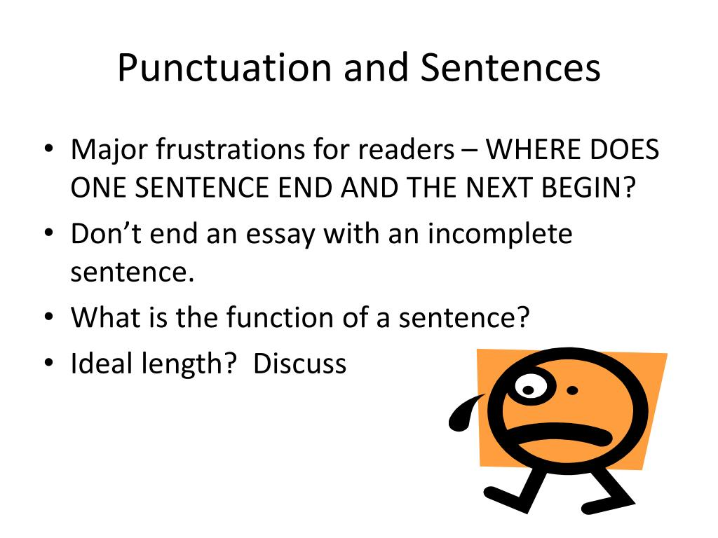 Punctuation and Sentences