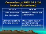 comparison of mds 2 0 3 0 section m continued16