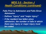 mds 3 0 section j health conditions continued