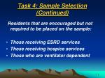 task 4 sample selection continued43