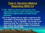 task 6 decision making regarding mds 3 0