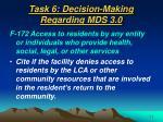 task 6 decision making regarding mds 3 052