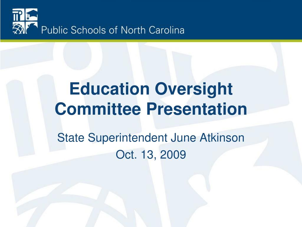 education oversight committee presentation l.