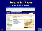 destination pages