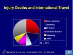injury deaths and international travel