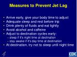 measures to prevent jet lag