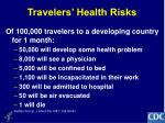 travelers health risks