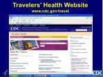 travelers health website www cdc gov travel