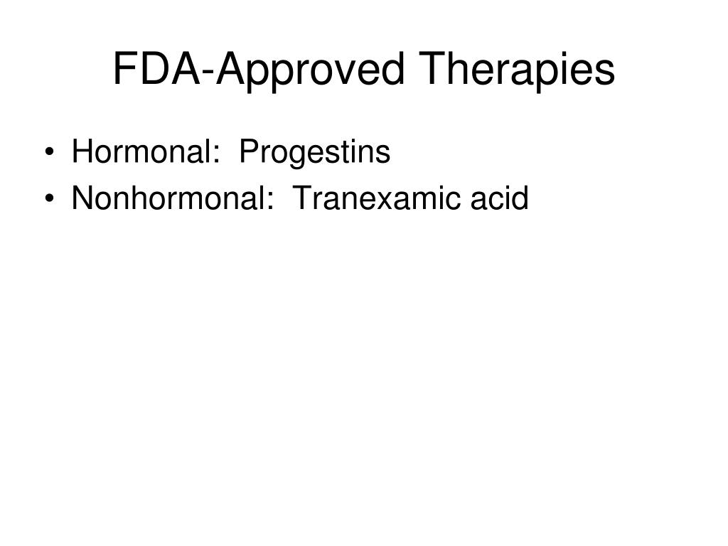 FDA-Approved Therapies