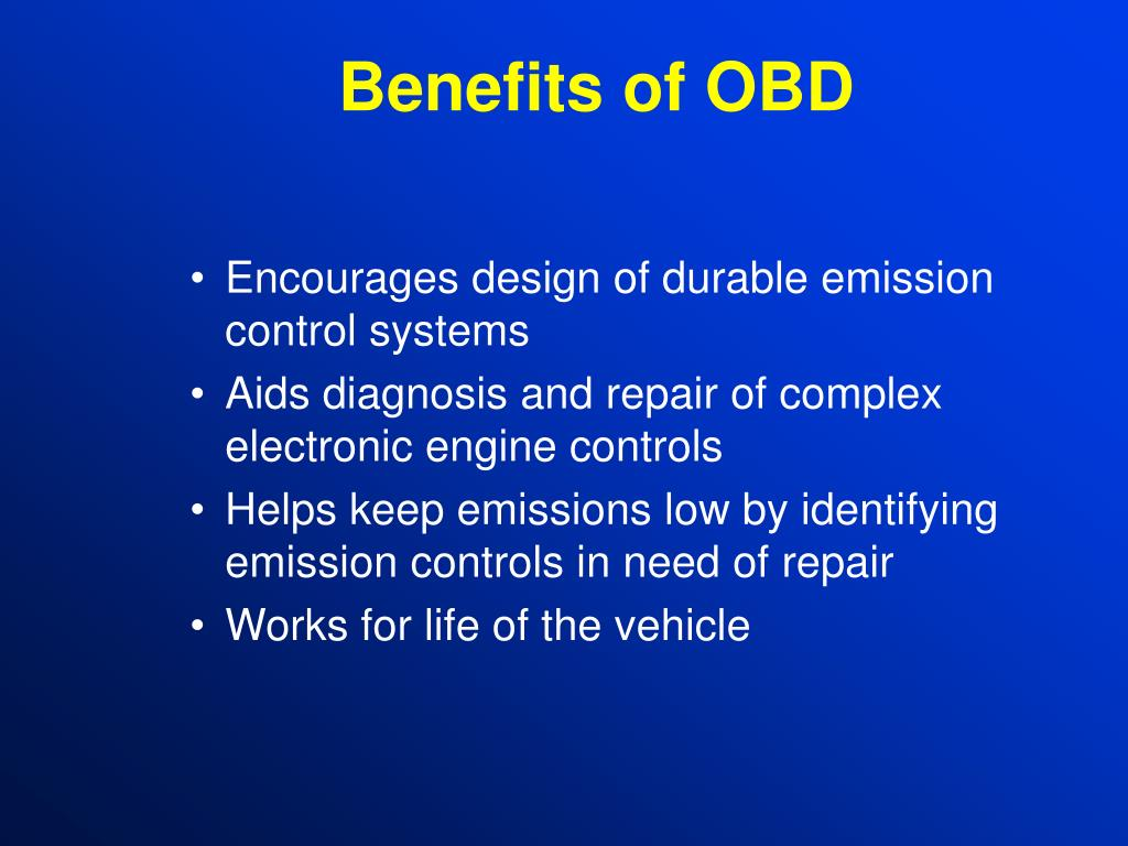Benefits of OBD