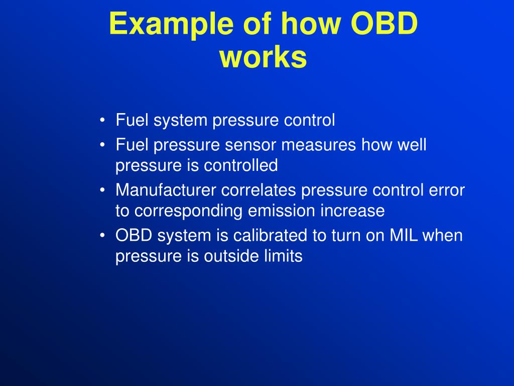 Example of how OBD works