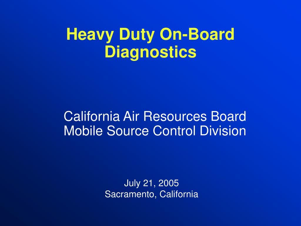 Heavy Duty On-Board Diagnostics