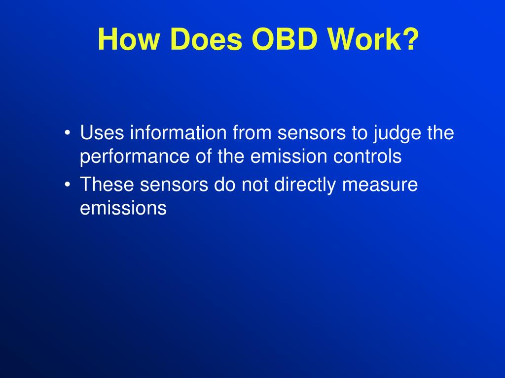 How Does OBD Work?