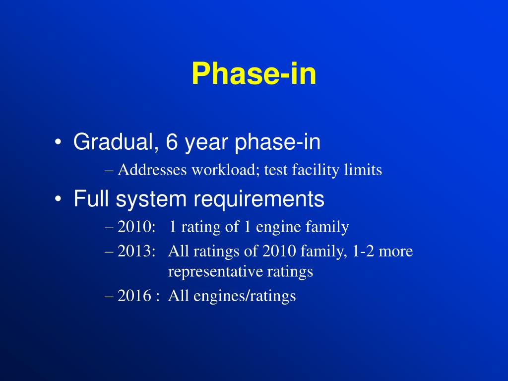 Phase-in