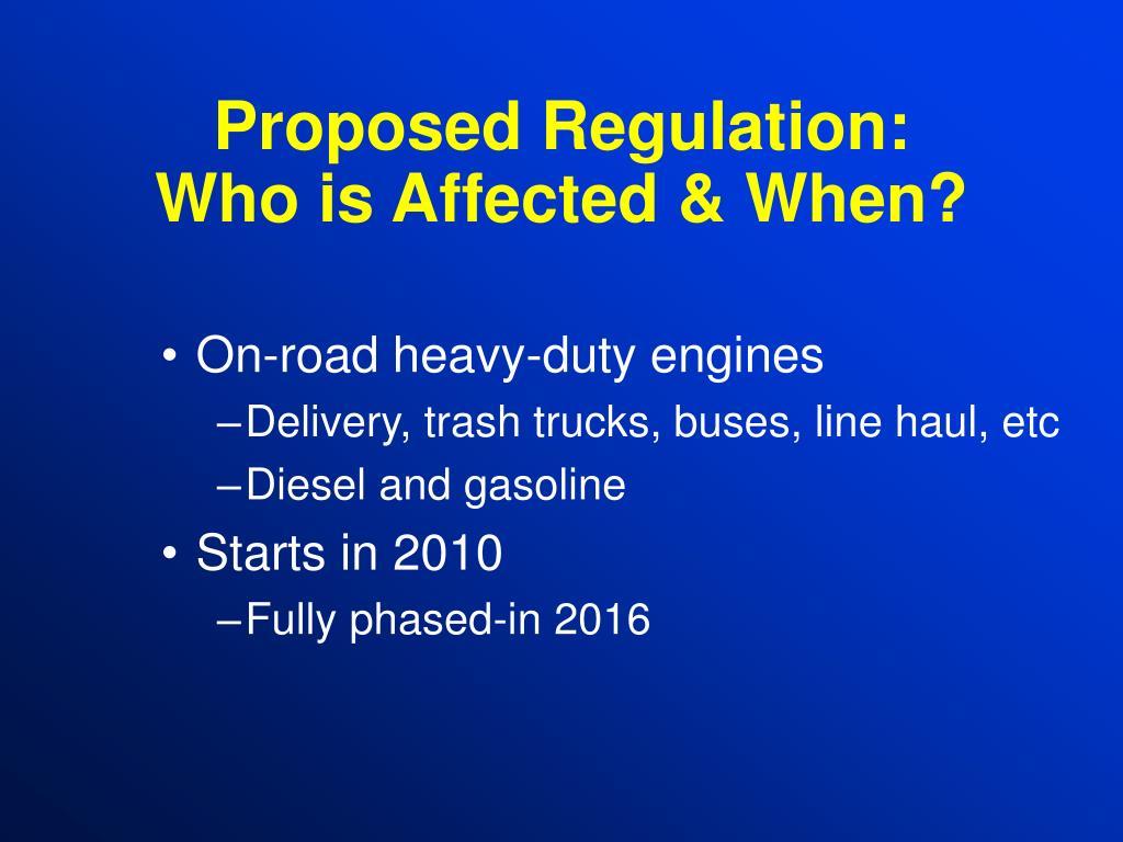 Proposed Regulation: