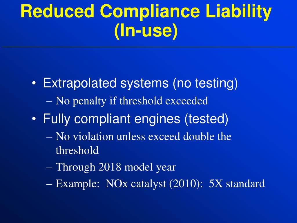 Reduced Compliance Liability