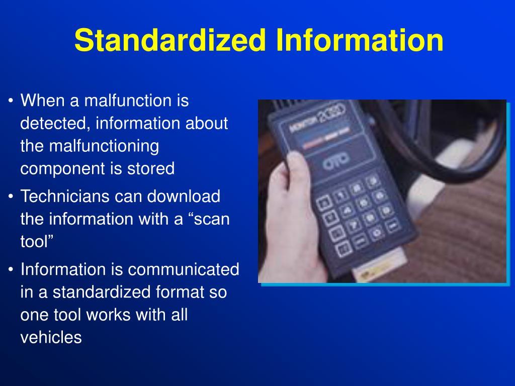 Standardized Information