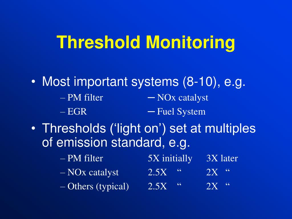 Threshold Monitoring