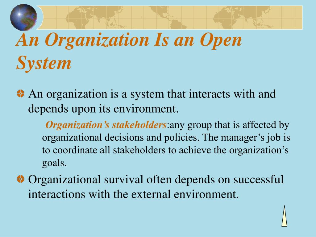 An Organization Is an Open System