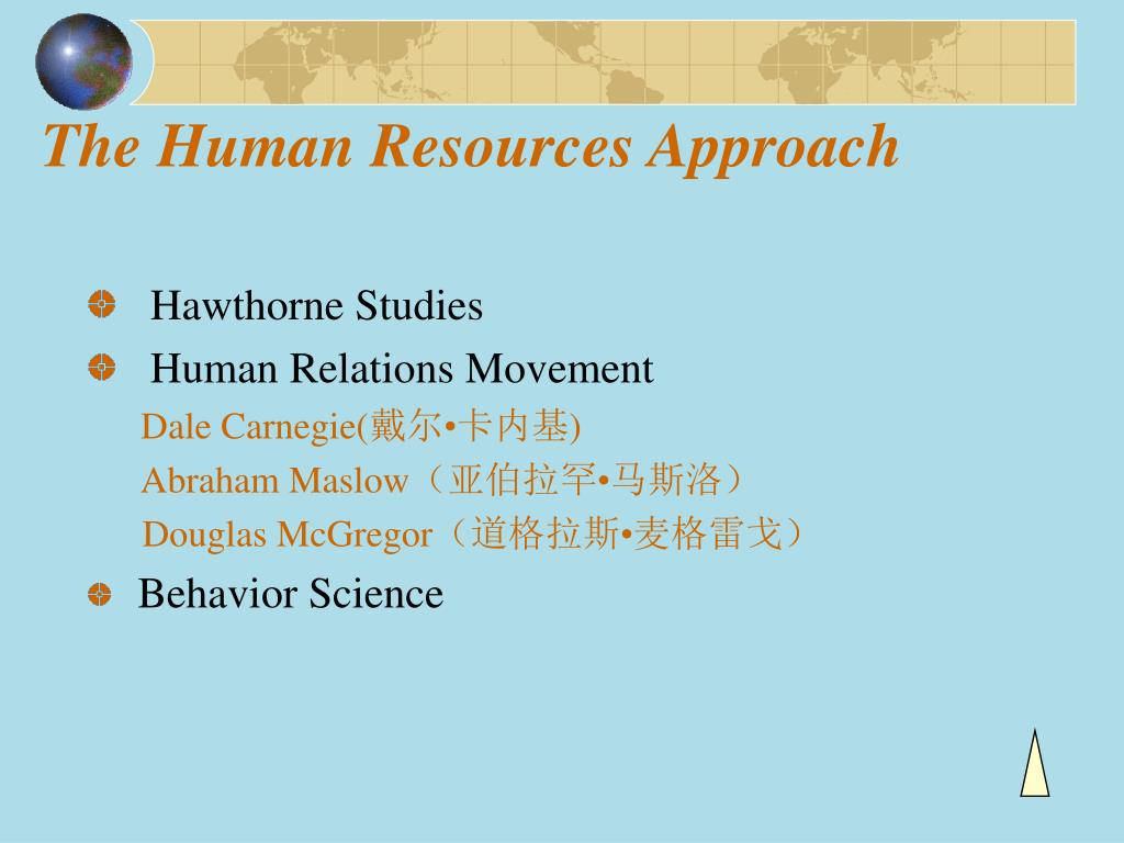 The Human Resources Approach