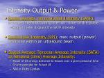 intensity output power15
