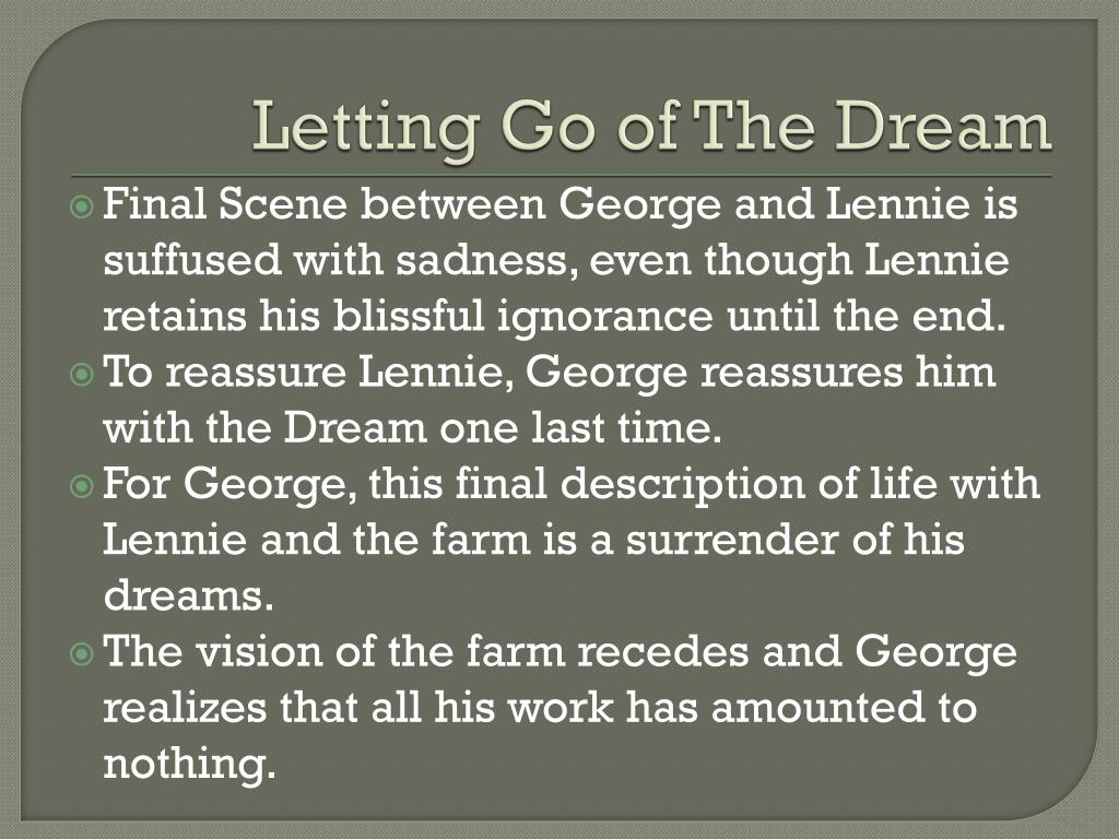 Letting Go of The Dream