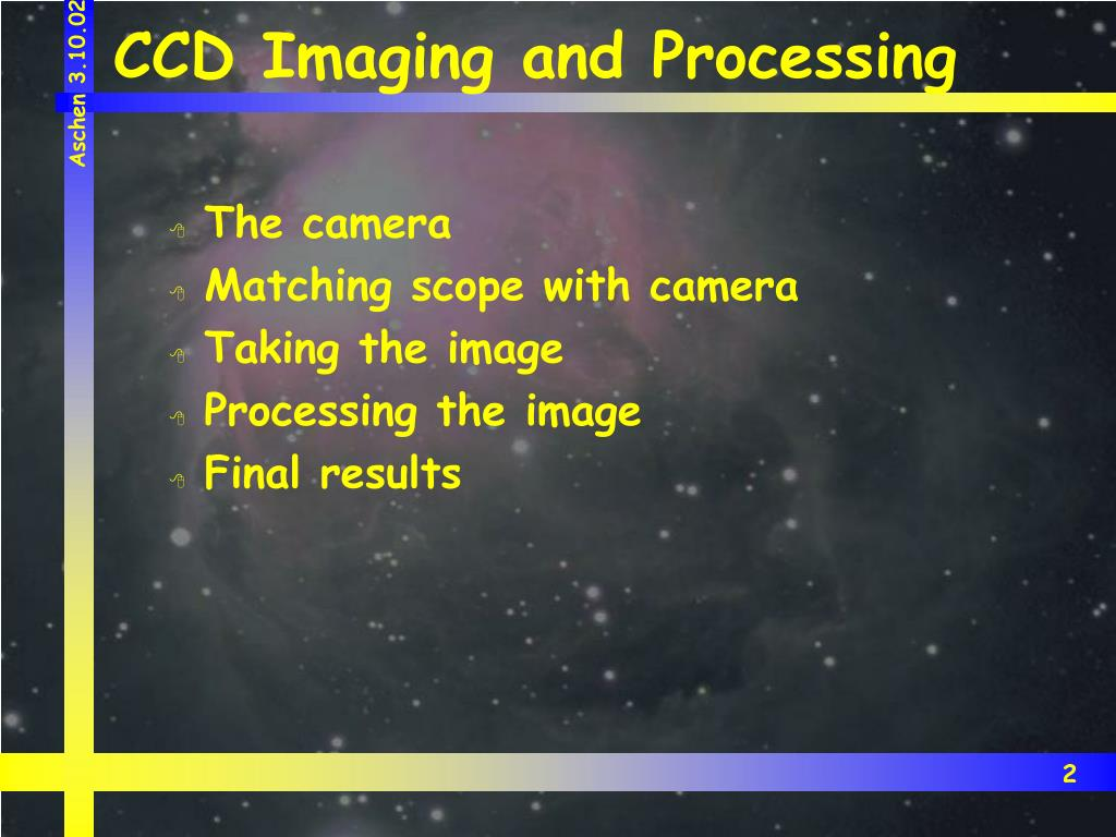 CCD Imaging and Processing