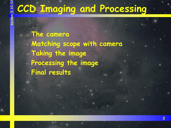 Ccd imaging and processing2