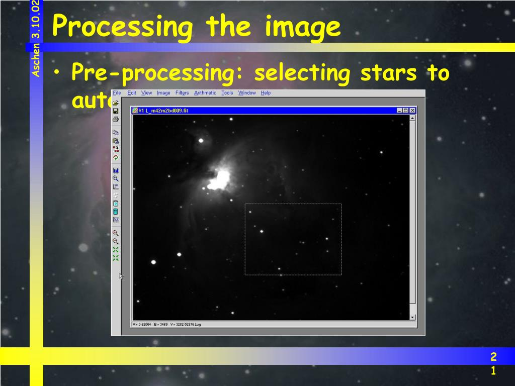 Processing the image