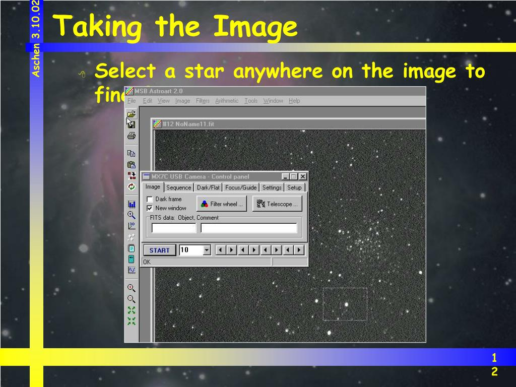 Taking the Image