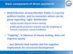 basic component of direct payments