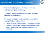 impact on supply and wto compatibility