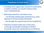 treatment of small farms