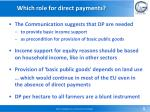 which role for direct payments