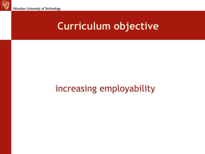 Curriculum objective