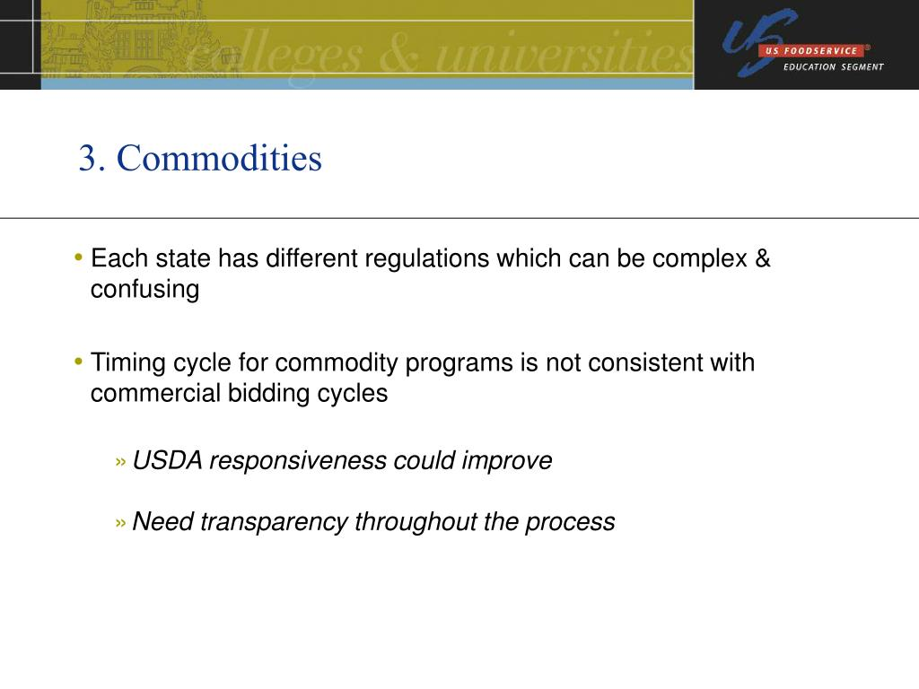 3. Commodities