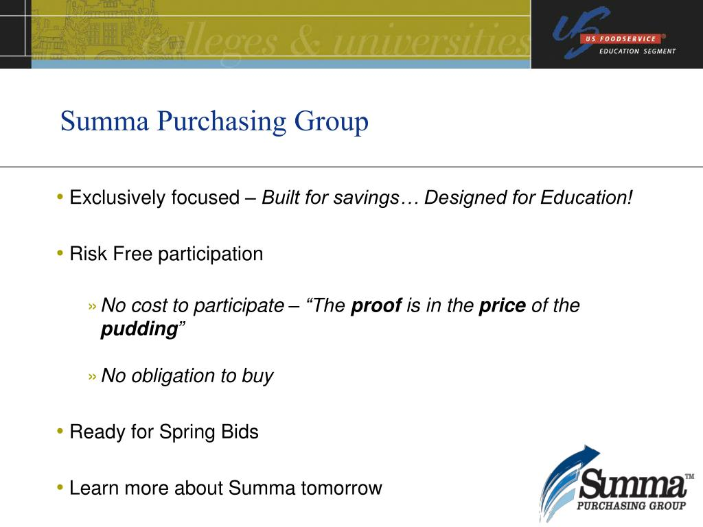 Summa Purchasing Group