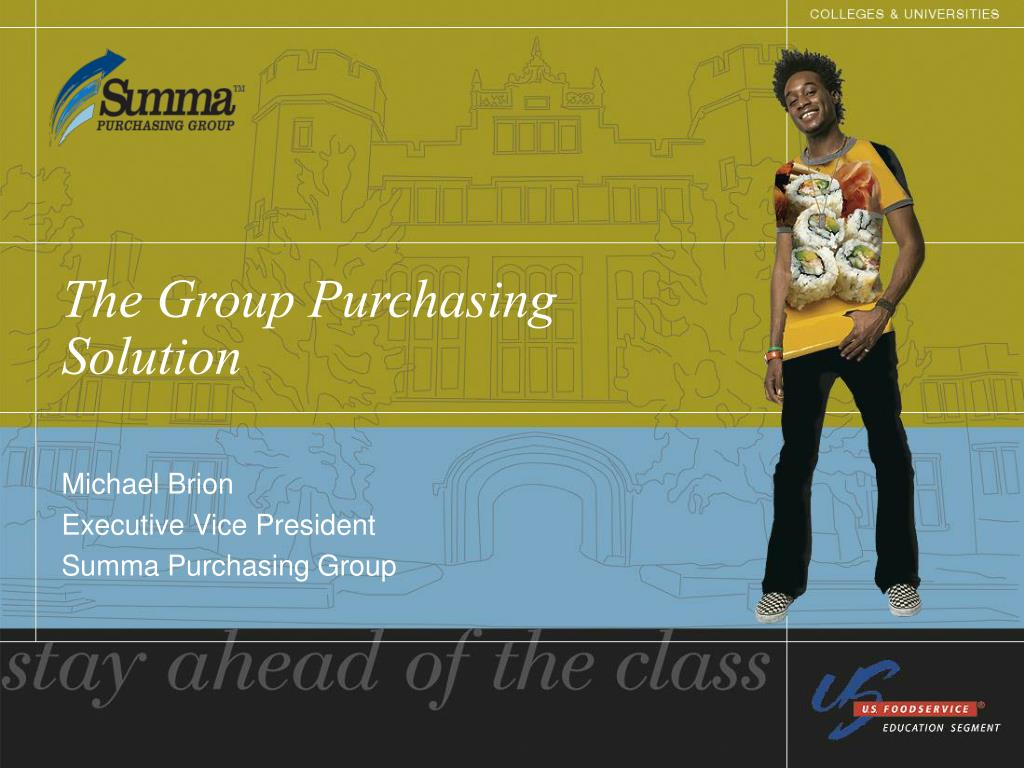 The Group Purchasing Solution