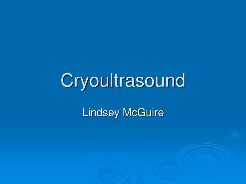 cryoultrasound l.