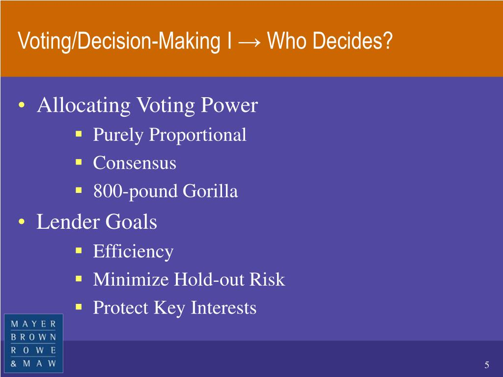 Voting/Decision-Making I → Who Decides?