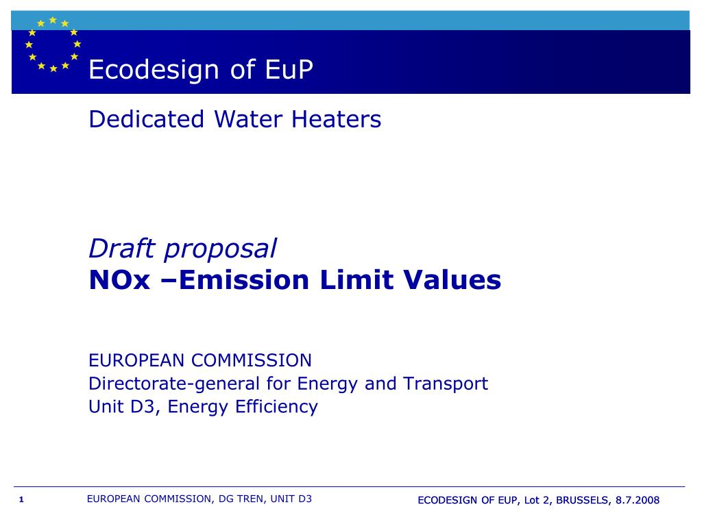 boiler wh labelling and european directive eup