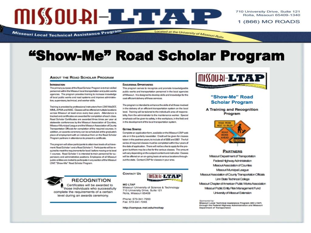 """Show-Me"" Road Scholar Program"