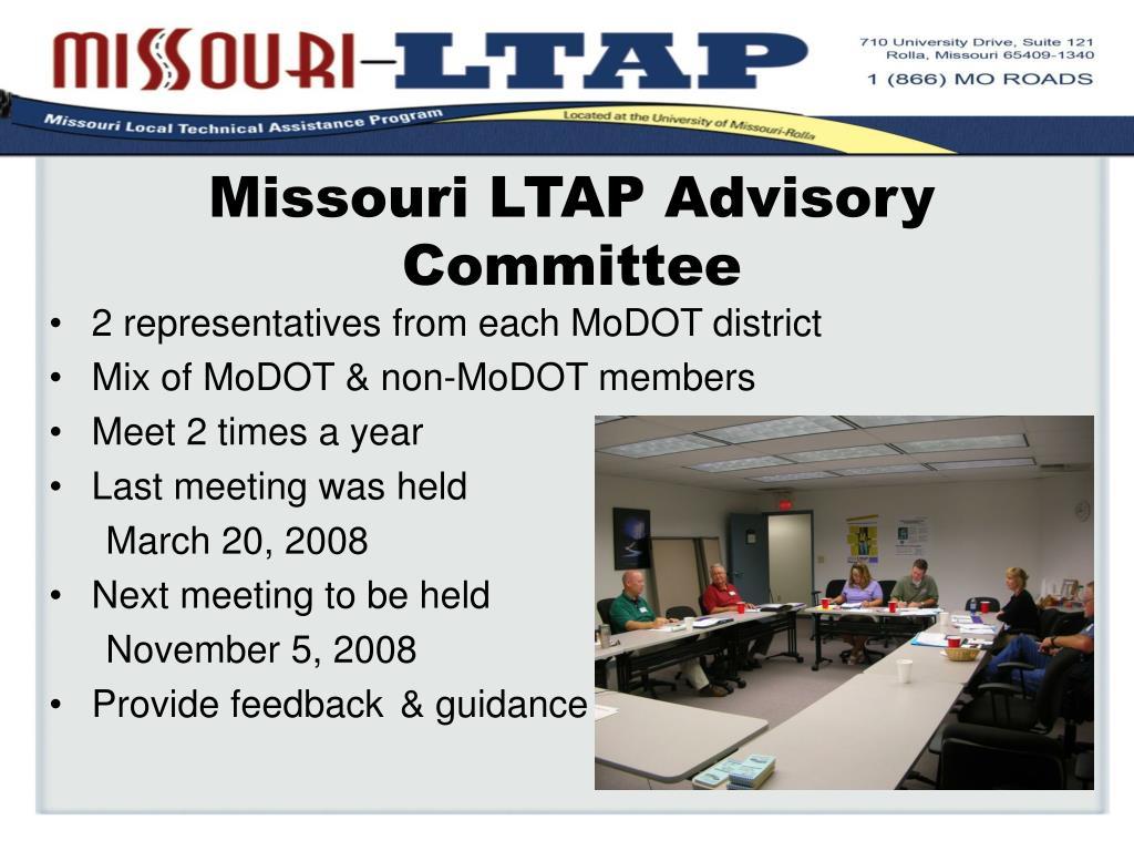 Missouri LTAP Advisory Committee