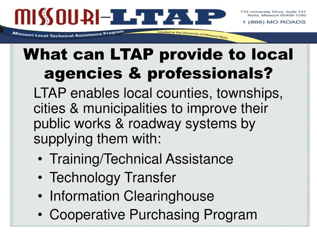 What can LTAP provide to local agencies & professionals?
