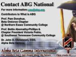 contact abg national
