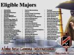 eligible majors