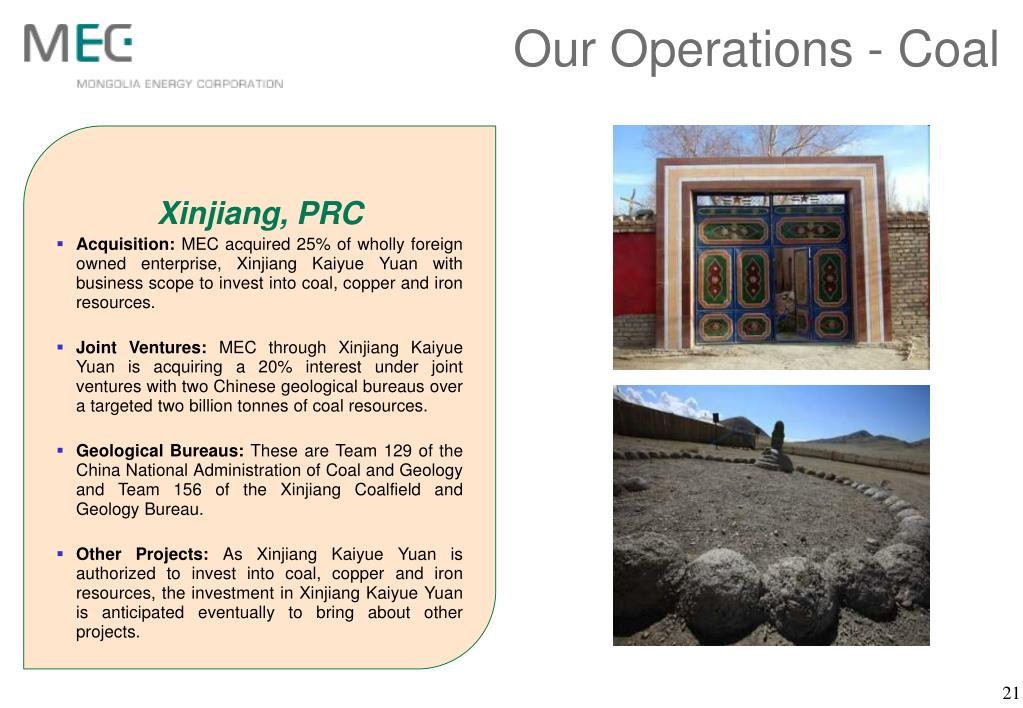 Our Operations - Coal